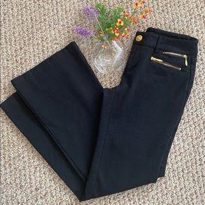 INC Zip-Pocket Ponte Fabric Straight Leg Pants